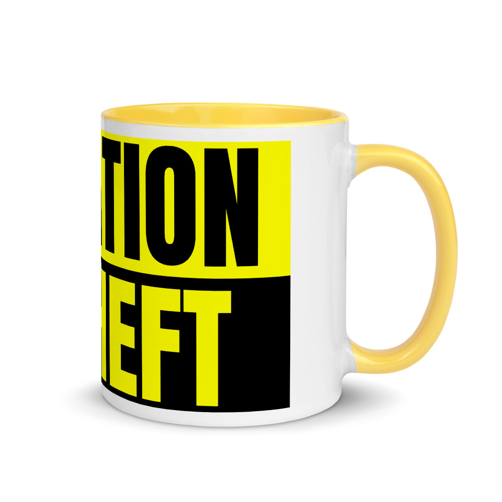 Yellow Taxation Is Theft Mug