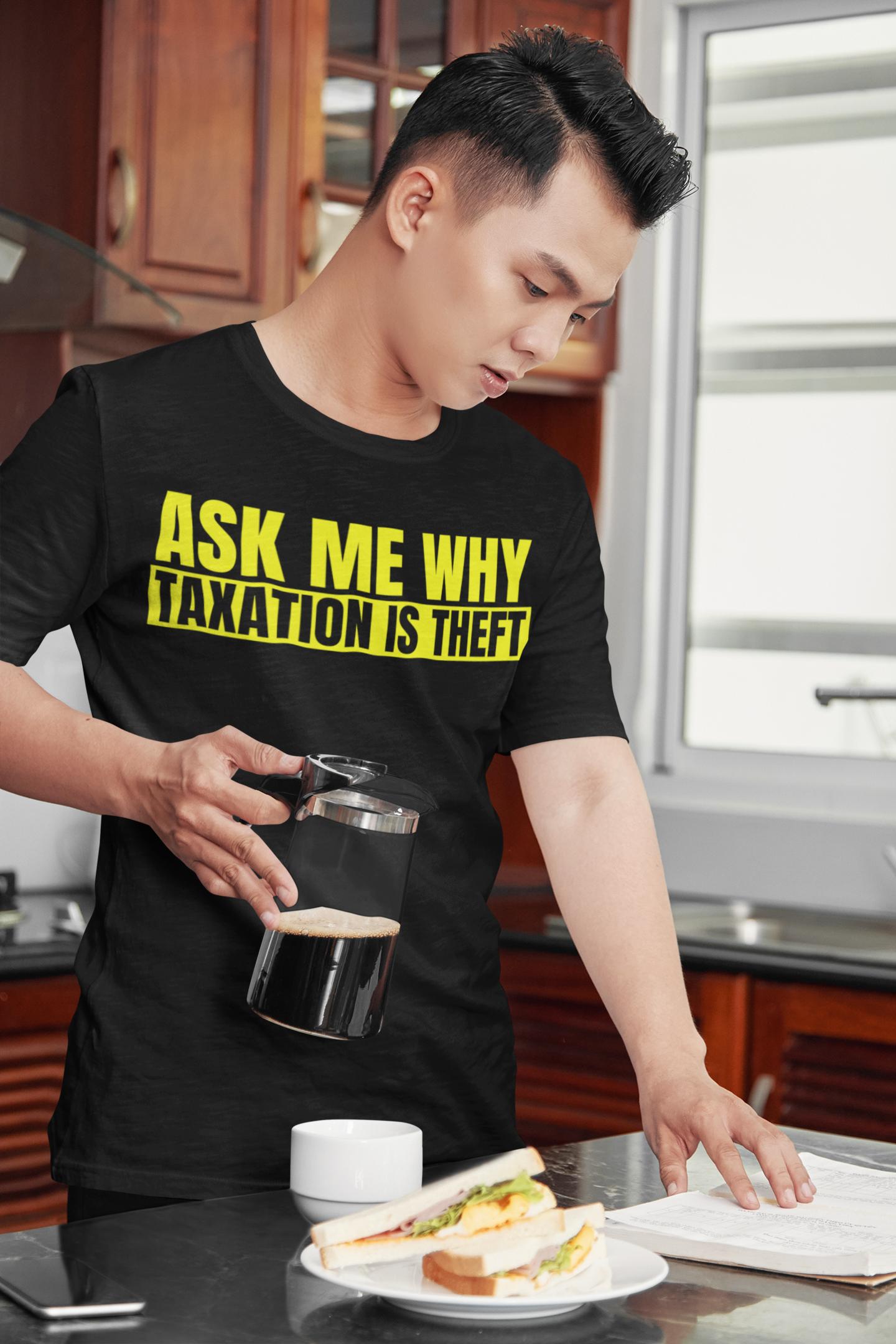 ask me why shirt man