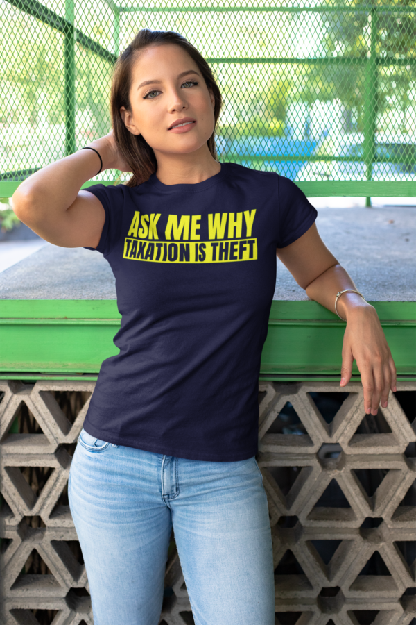 ask me why shirt woman