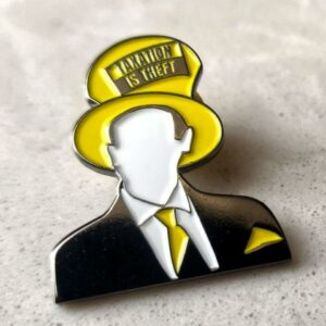 Lapel Pin – Dan Taxation Is Theft Behrman