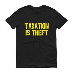 Taxation Is Theft Graffiti Black