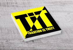 TIT Sticker Yellow (50 Pack)