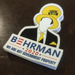 Behrman 2020 Hat Logo Stickers (50 Pack)