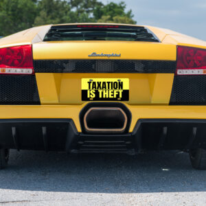 Taxation Is Theft License Plate